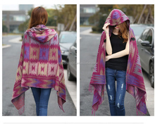 2016 fashion autum winter acrylic cashmere pashmina poncho shawl scarf