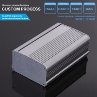 YGS-006 95*55-125mm diy box power supply enclosure in aluminium material electronics aluminium box