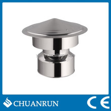 Straight Stainless steel Double wall Rain Cap for pellet stoves