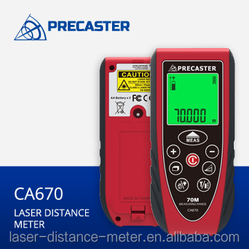 Easy to carry laser range meter 70m with area,volume,height,safety strap,aa battery CA670 can used in household appliance