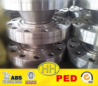 China Supplier,stainless steel weld neck flange with PED