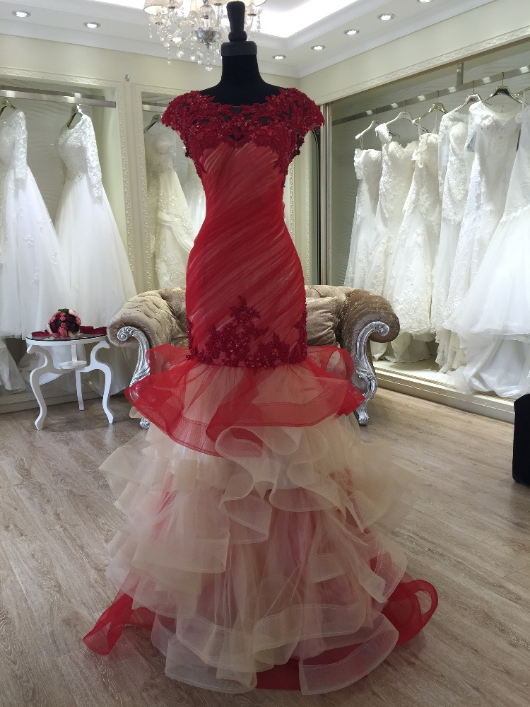 2016 latest dress designs photos red color long dress