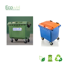 1100MGB Plastic Storage Container With Rubber Wheels