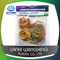 BSCI Approved Factory Price Hot Sale Assorted Colors Rubber Bands size 40mm