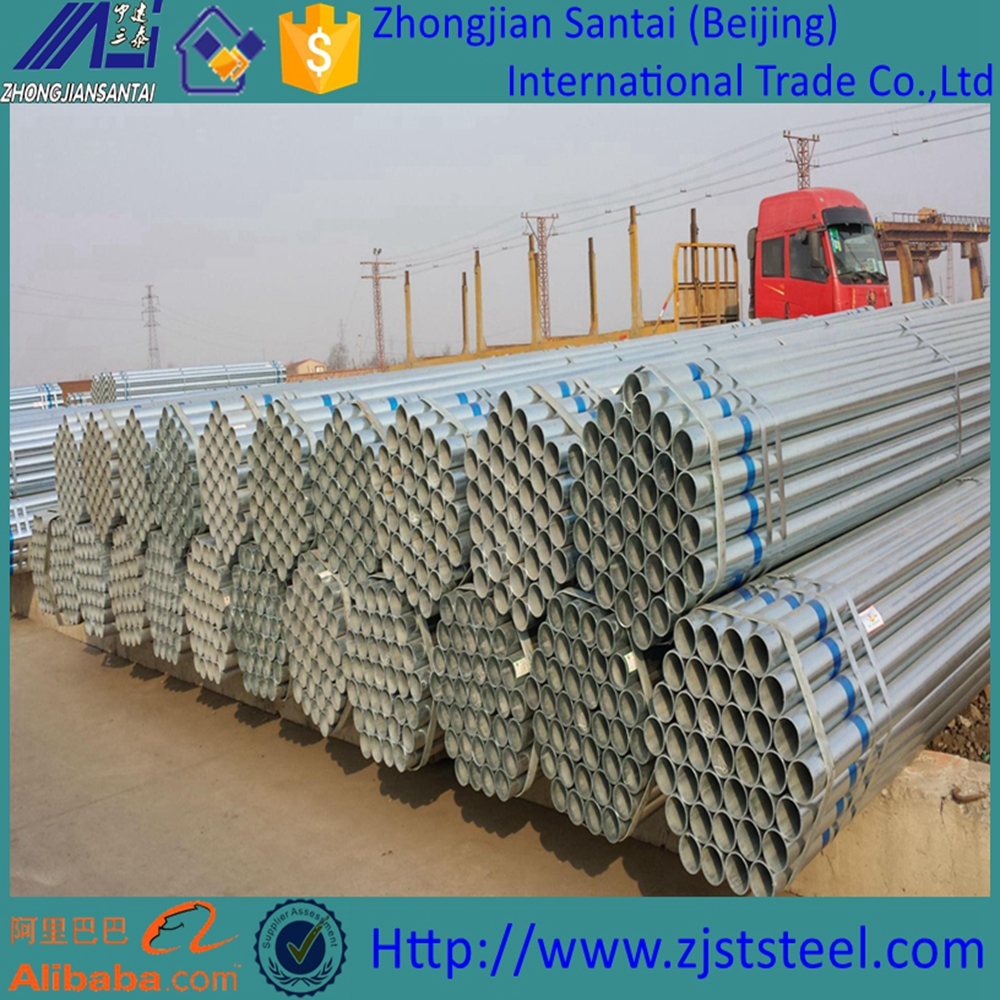 Schedule 40 erw round steel tube tensile strength galvanized steel pipe