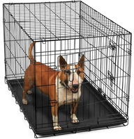 Black Folding metal wire dog cage