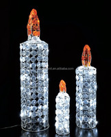 crystal beads candle led light