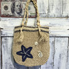 2017 lady fasion star design moroccan kilim sea grass basket straw summer beach bag