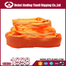 Heavy duty 20t endless round type lifting sling webbing belt with 6 times safety factor