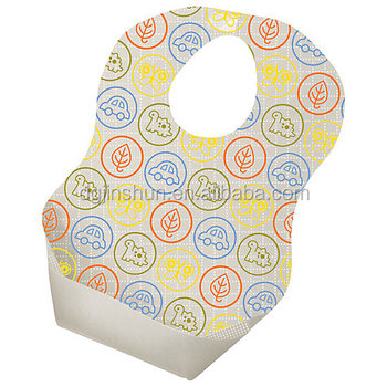 Disposable Bibs Baby Feeding Weaning Waterproof Travel 20 Pack