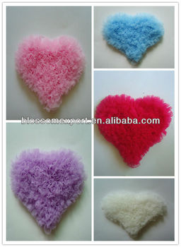 Hot design chiffon heart cute baby garment Accessories