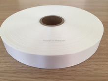 Double Faced White Polyester Satin Ribbon