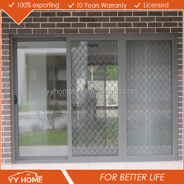 YY Home AS 2047windows and doors manufacturer thermal break aluminium double glass sliding door