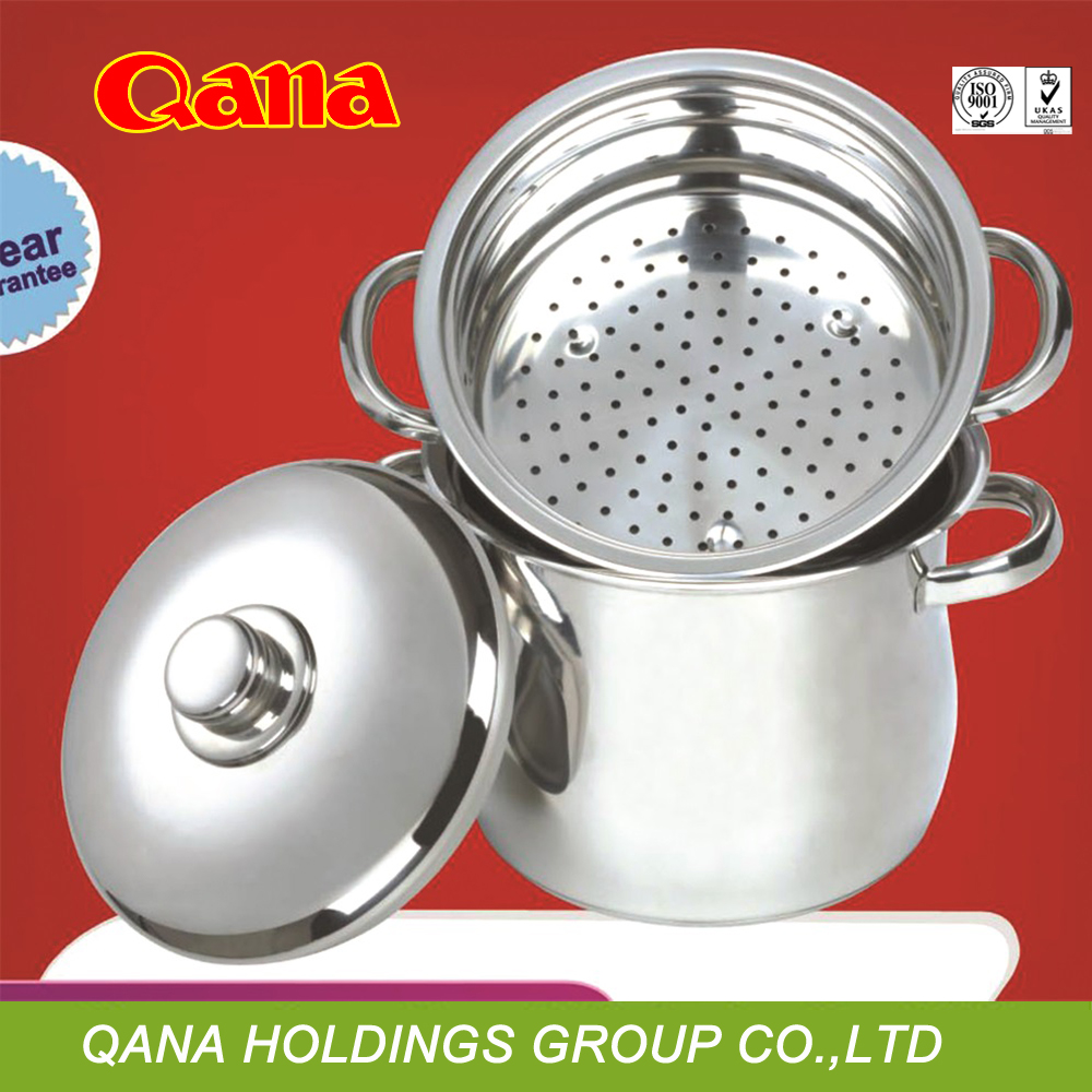 Stainless steel couscous with steamer /couscous pot stainless steel/couscoussier/food steamer pot