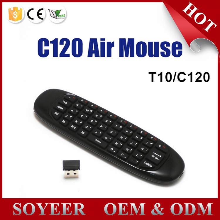 2.4GHz G Mouse c120 Air Mouse T10 Wireless Air Fly Mouse and Keyboard Combo for Android TV Box C120