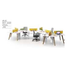 modern office workstations with power outlet