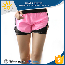 Latest casual custom high waisted running fitness women sport shorts