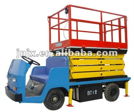 Hydraulic mobile adjustable Car carrying scissor lift table for maintenance