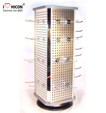 Department Store Small Countertop Metal Hanging Pegboard Spinner Display Racks For Hanging Items