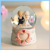 Hotsale creative wedding couple favors ornaments, romantic bride and groom resin snow globes