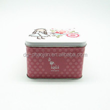 embossing hot sale customized cosmetic tin box with ISO certified