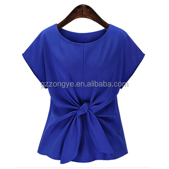 China clothing garment factory chiffon lady blouse clothes