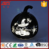 Halloween ornament glass pumpkin with LED