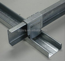 GI metal stud track/keel /drywall partition/ceiling suspension system