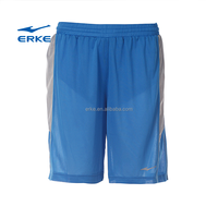 ERKE 2015 active mens adult 100%polyester basketball suit long athletic mesh shorts no pockets with elastic waistband in stock
