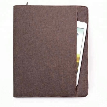 KID A5 portfolio folder PU leather art folder portfolio with zipper closure