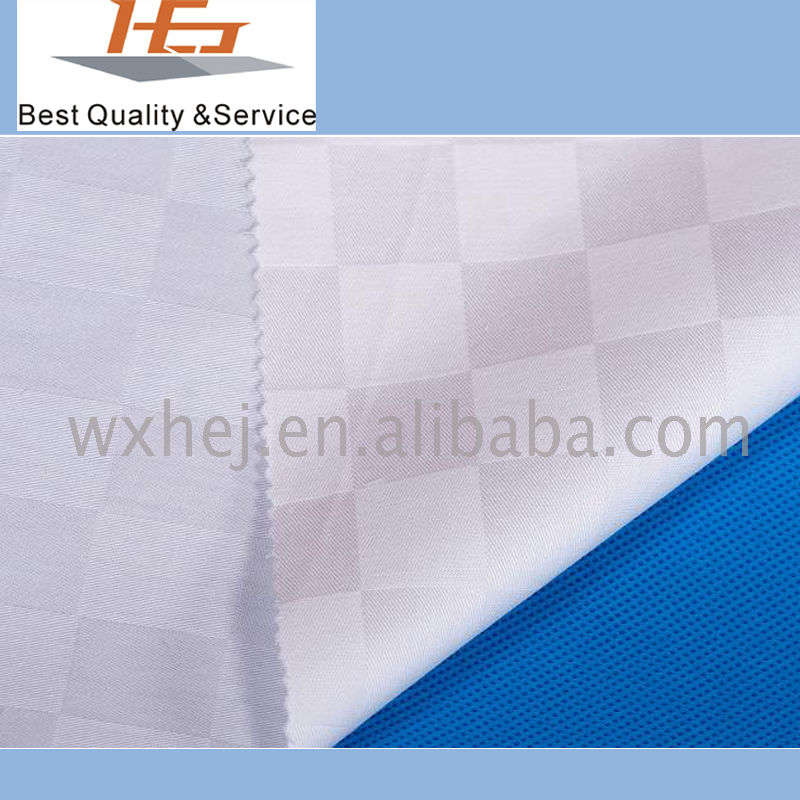 Dobby Fabric White Stripe For Home Textile