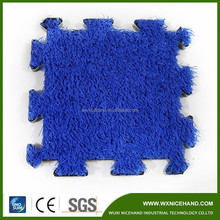 Interlock Hockey feild /padel field /tennis court artificial grass turf lawn flooring shock pad with foam underneath