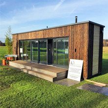 luxury container coffee shop modular homes villa Transformed 20'ft shipping container house with furnitures inside