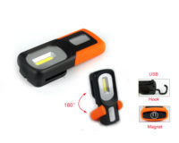 OEM & ODM Battery Work Light Portable 3WCOB+1LED Rechargeable Magnetic Work Light For Working And Car Repairing