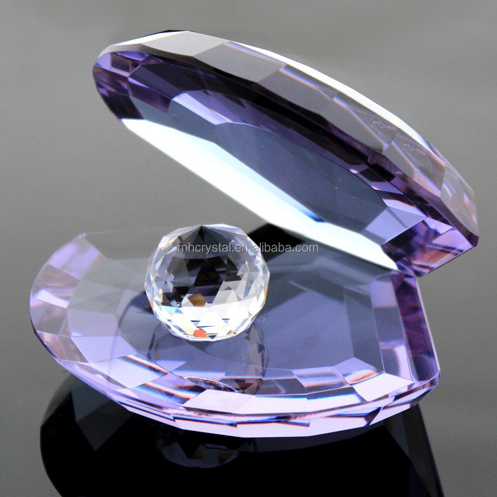 Purple Crystal Shell Figurine with ball MH-D0316