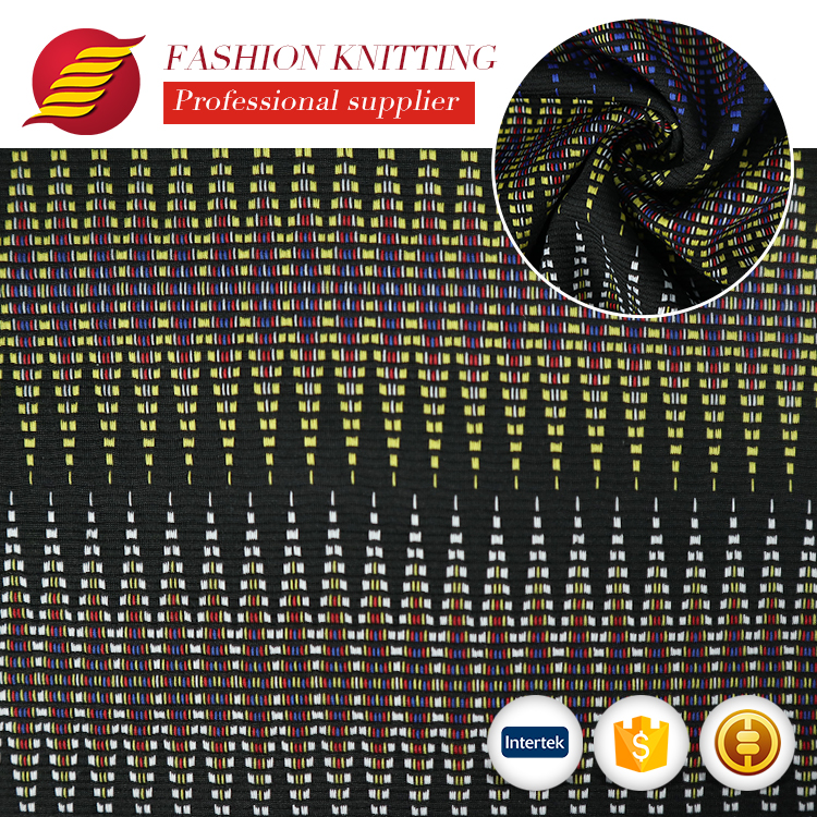 New arrival jacquard terry 97 polyester 3 spandex stretch ottoman fabric