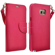 Hybrid shockproof Wallet pu Leather kickstand Case for samsung galaxy note 5