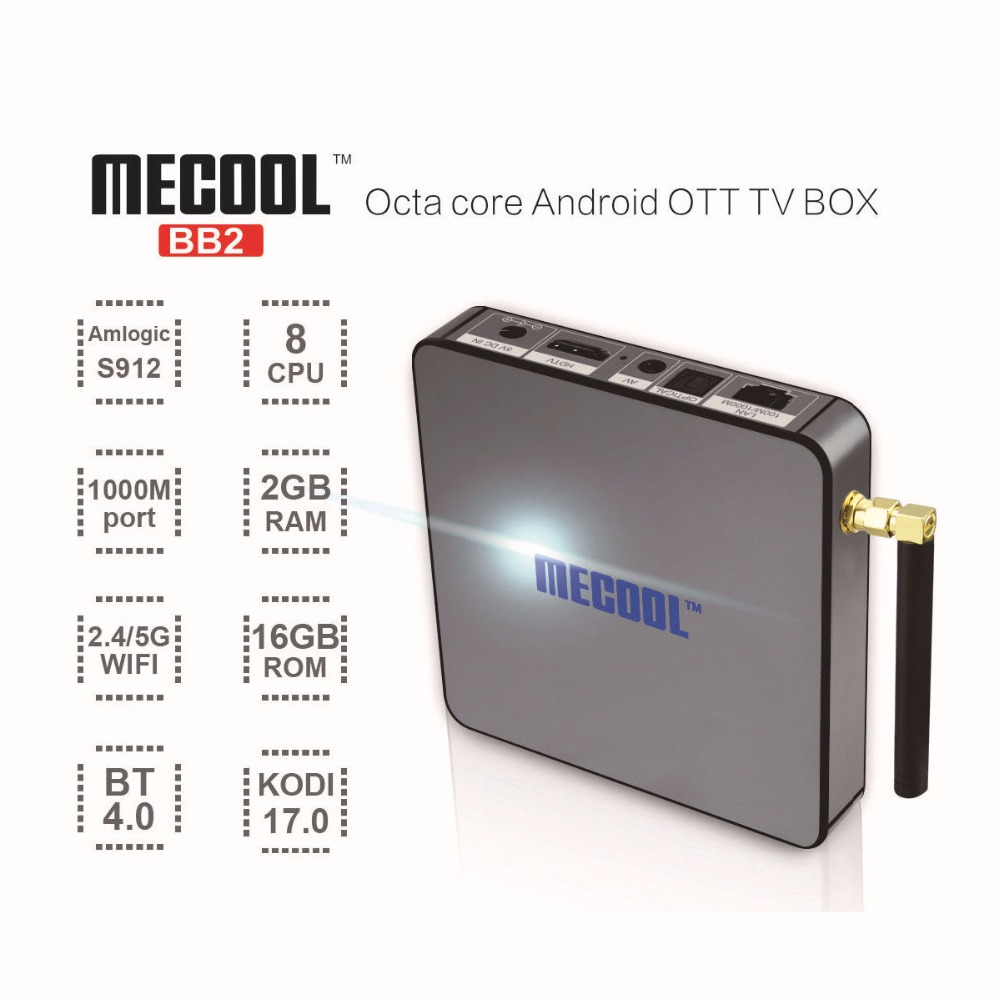 2017 mecool bb2 pro 2G/16G 2.4G 5GHz Dual WIFI BT4.0 4K gps firmware update amlogic s905 m9x android tv box