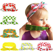 baby girls fruit printing <strong>headband</strong> children hair accessories kids <strong>headband</strong>