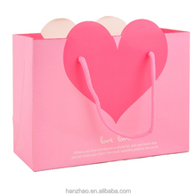 Love Design Color Heart Shaped Gift Bag for Festival Birthday Valentine Wholesale