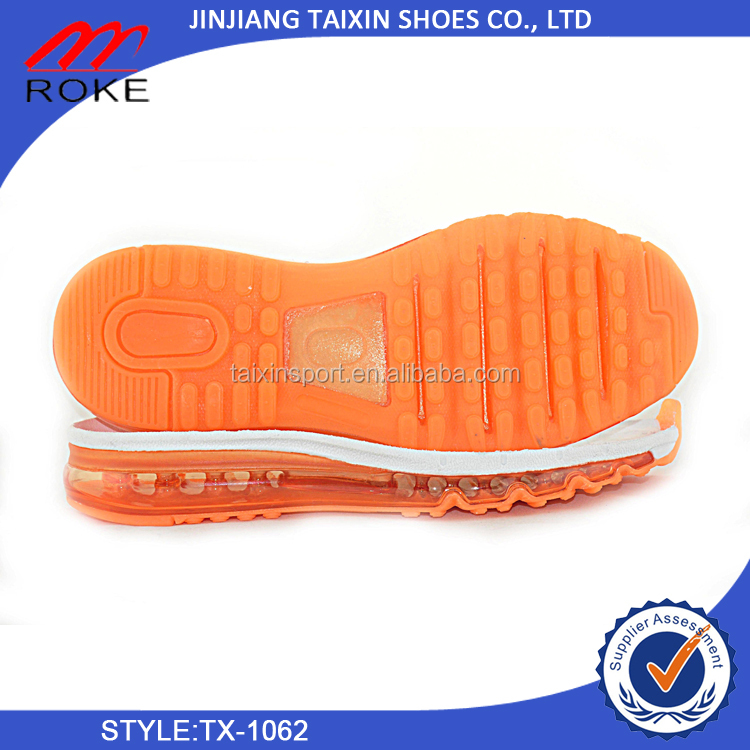 new desigh air cushion shoe soles for running shoes outsole from directly supplier hot sale