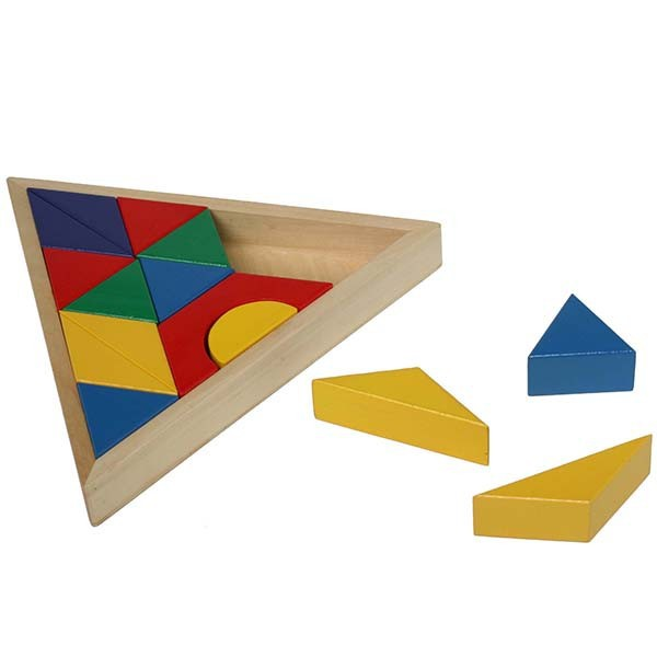 Wooden Triangle Blocks Board Toy
