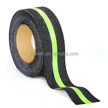 Wholesale black anti slip tape with 10mm glow line anti slip tape