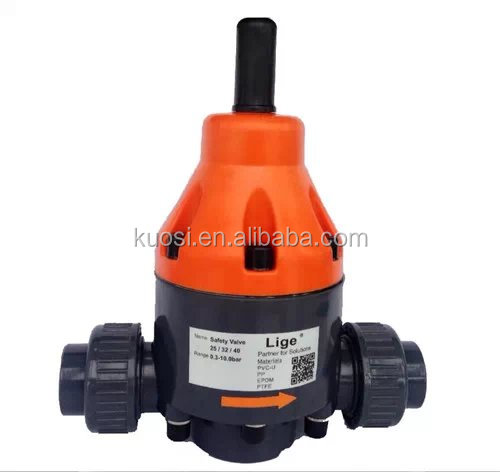 pvc activated back pressure valve for dosing pump