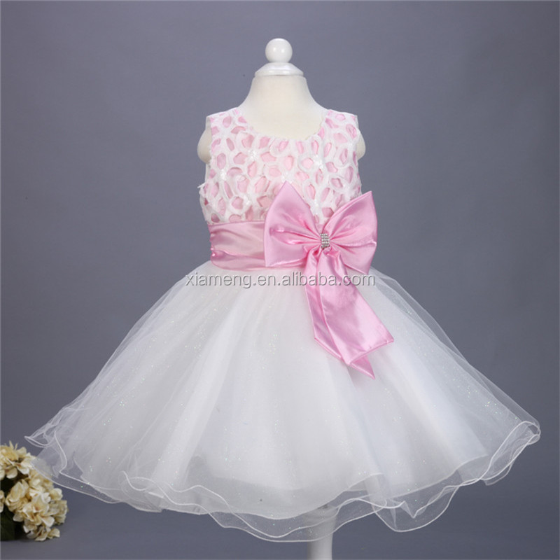 pink net dress flower girl dress organza latest frock design for baby girl