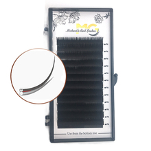 Eyelashes extension private label good quality material <strong>flat</strong> lashes