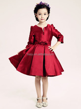 New style wholesale red long sleeve kids one-piece dress