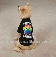 awesome printing puppy pride dog t-shirt/pet t-shirt/dog apparel