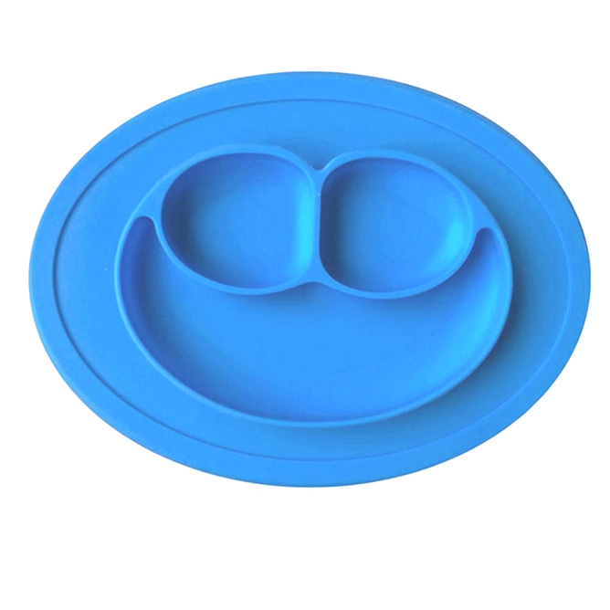 Silicone Suction <strong>Plate</strong> Baby Smile Silicone Placemat <strong>Plate</strong> Feeding Food <strong>Plates</strong>