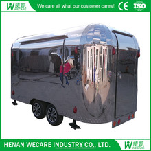 Hot selling hot dog cart food vending mobile kitchen trailer for sale